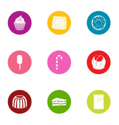 appetizing icons set flat style vector image