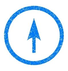 Arrow Axis Y Rounded Icon Rubber Stamp vector
