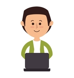 Avatar person working icon vector