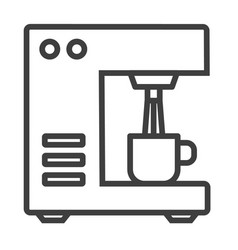 Bar coffee machine icon outline bar coffee vector