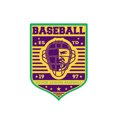 Baseball minor league championship vintage label vector