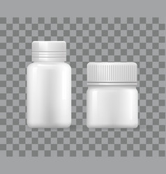 blank medical storage box for pharmaceutical vector image