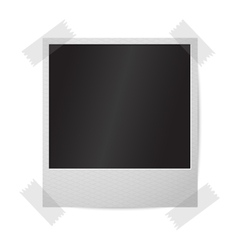 Blank realistic isolated on white instant vector image