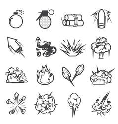 bomb icon set 2 vector image