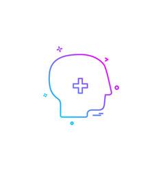 brain treatment user icon desige vector image