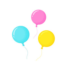 bright helium balloons decor for birthday party vector image