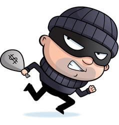 Burglar running vector