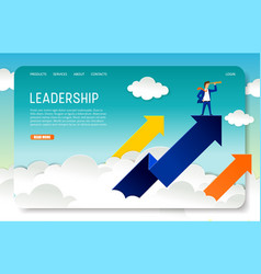 Business leadership landing page website vector