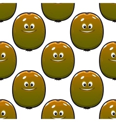 Cartoon kiwi fruits seamless pattern vector