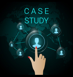 case study background banner vector image
