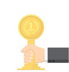 champion gold award vector image