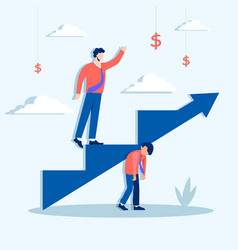 Climbing ahead career ladder concept lets rise vector