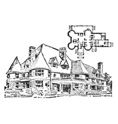 Country-house vintage vector