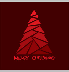creative merry christmas tree design vector image