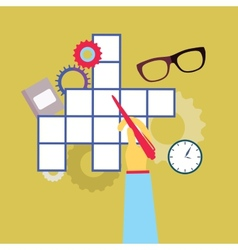 Crossword puzzle vector image