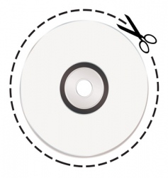 cut out cd token vector image