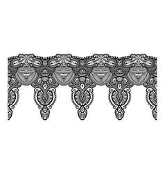 decorative ornate design stripe pattern ethnic vector image