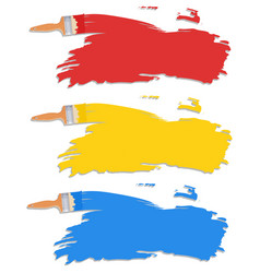 diffrent color of paint brush vector image