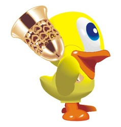 duck with bell vector image vector image