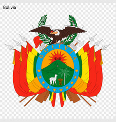 Emblem bolivia vector