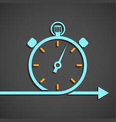 emblem chronometer vector image