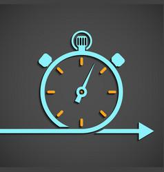 Emblem of the chronometer vector