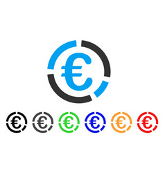 Euro financial diagram icon vector
