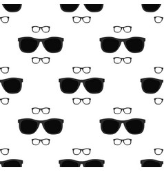 eyeglasses seamless pattern - black vector image
