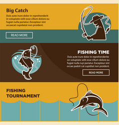 Fishing tournament time for big catch colorful vector