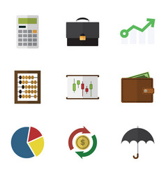 Flat icon incoming set of counter graph vector