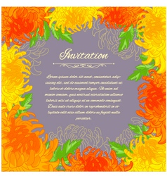 Floral frame with chrysanthemum vector image