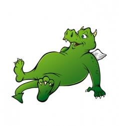 friendly dragon vector image