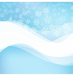 Gentle winter abstract background vector image