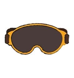 Glasses of winter cloth design vector