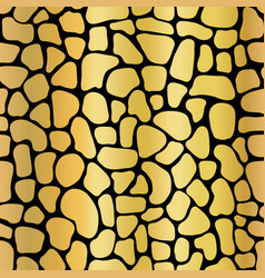golden metallic abstract background mosaic shapes vector image