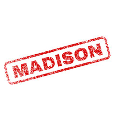 Grunge madison rounded rectangle stamp vector