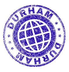 Grunge textured durham stamp seal vector