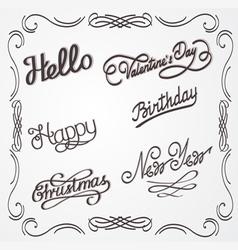 Handwritten lettering vector