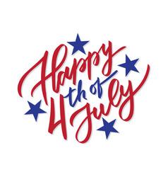 Happy 4th july - typography vector