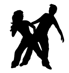 High quality original Pair kids dance isolated on vector image