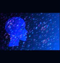 Human big data visualization futuristic vector