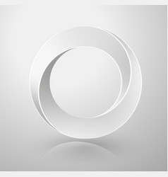 impossible circle sign vector image