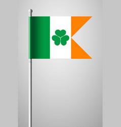 Ireland flag with shamrock national flag on vector