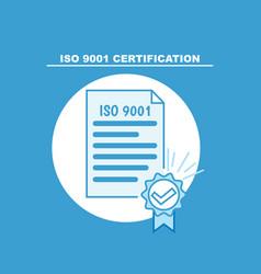 Iso 9001 banner certificate vector
