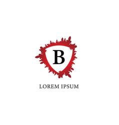 Letter b alphabet logo design template splash of vector