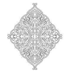 Medallion for design vector