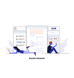 modern flat design concept - social network vector image