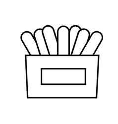 napkins icon vector image