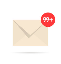 notification email like overflowing mailbox vector image