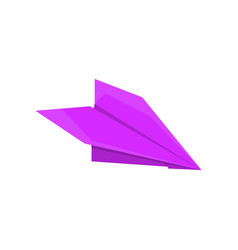 paper airplane made in origami technique vector image